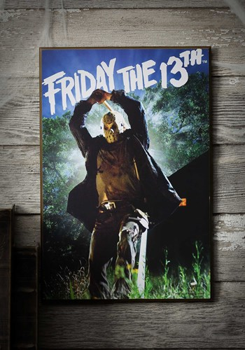 "Friday the 13th Wood Wall Décor 13"" x 19"" Art"
