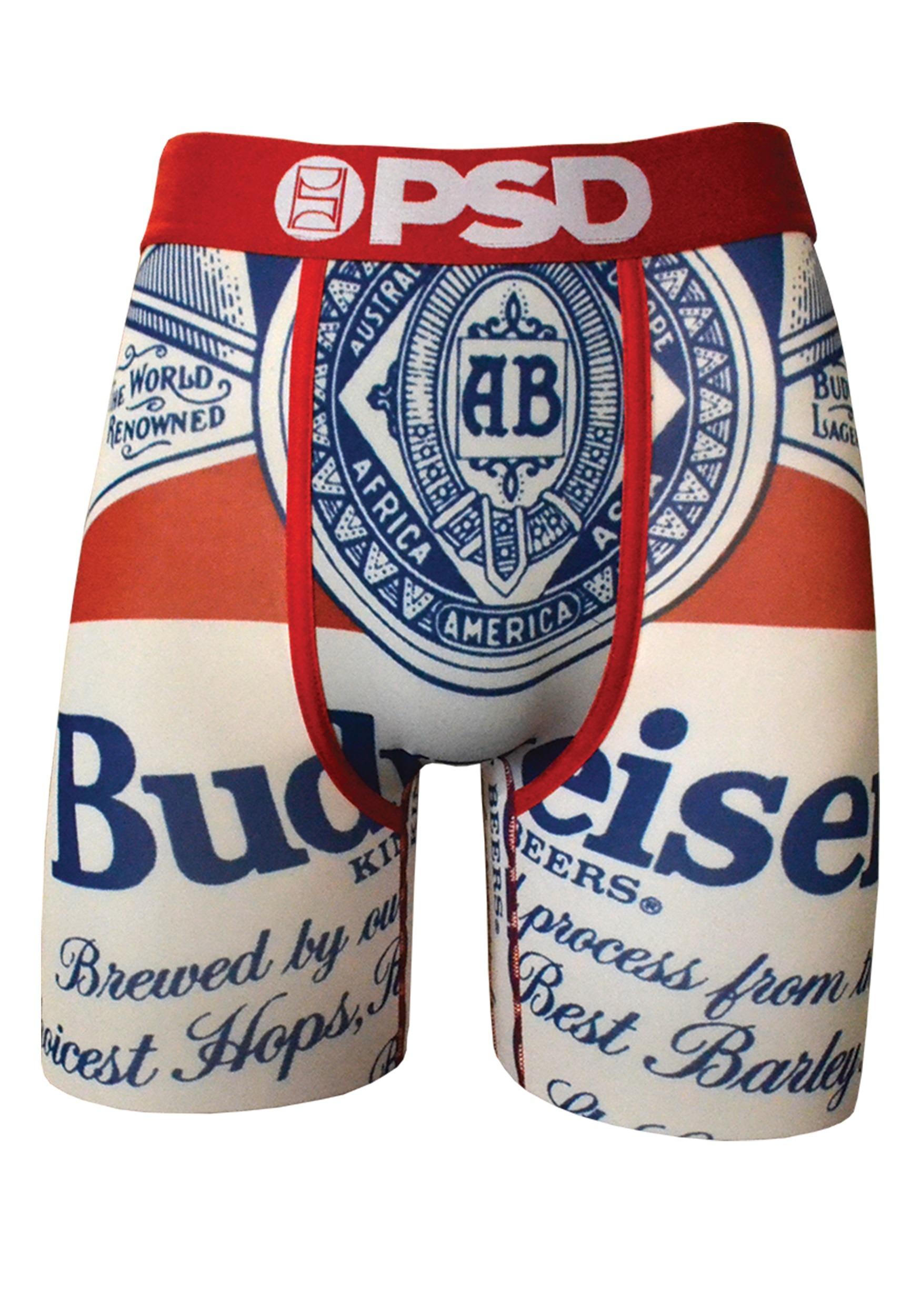 790d1206e4d50 PSD Underwear Budweiser Classic Boxer Briefs for Men