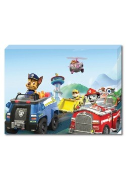 "Paw Patrol Group 12"" x 16"" portrait Canvas with LED1"
