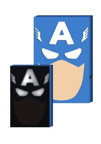 "Captain America LED Hero Face 12.5"" x 8.75"" Box Art"