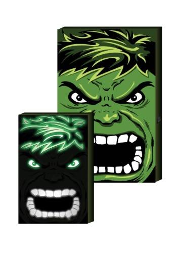 """Hulk LED Hero Face 12.5"""" x 8.75"""" Box Art"""
