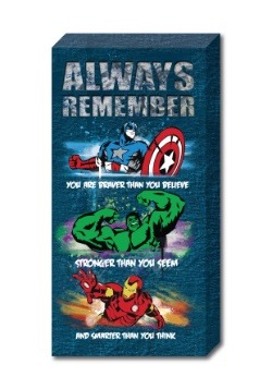 "Avengers 12"" x 24"" 'Stronger' Inspirational Canvas"