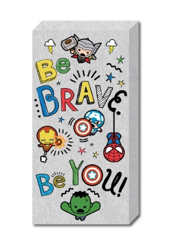 "Kawaii 12"" x 24"" Brave Inspirational Canvas"