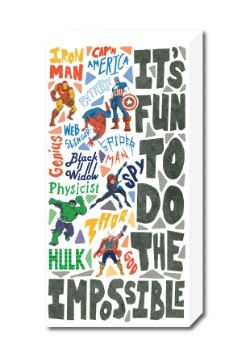 """Marvel Retro 12"""" x 24"""" It's Fun To Do The Impossible"""