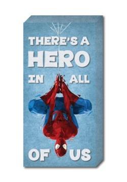 "Spider-Man 12"" x 24"" ''Hero' Inspirational Canvas"