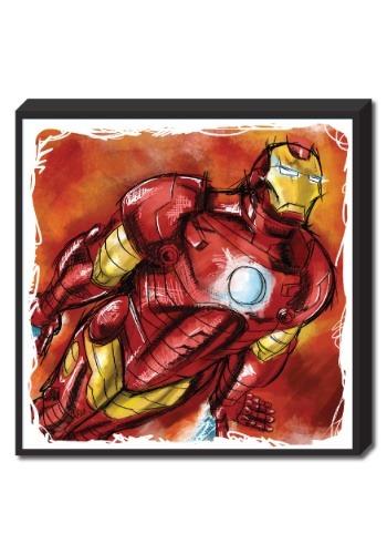 "Iron Man Molded Foam Art 15""x15"""