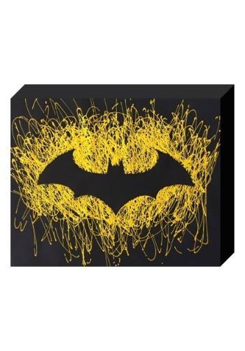 """Batman Logo Paint Splatter Canvas 16"""" x 20"""""""