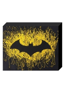 "Batman Logo Paint Splatter Canvas 16"" x 20"""