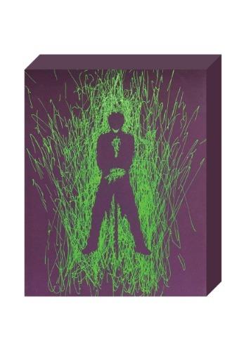 Joker Silhouette 16 x 20 Paint Splatter Canvas