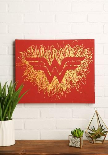 Wonder Woman Logo Paint Splatter Canvas Update