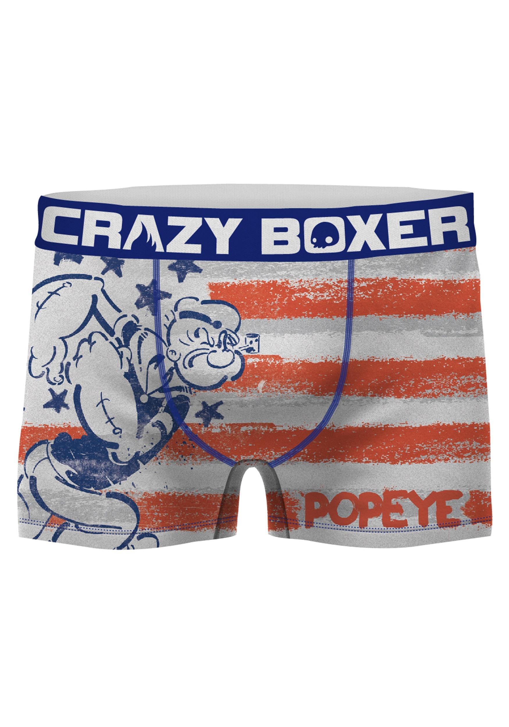 bd5c089709ce Crazy Boxers Men's Popeye American Flag Boxer Brief