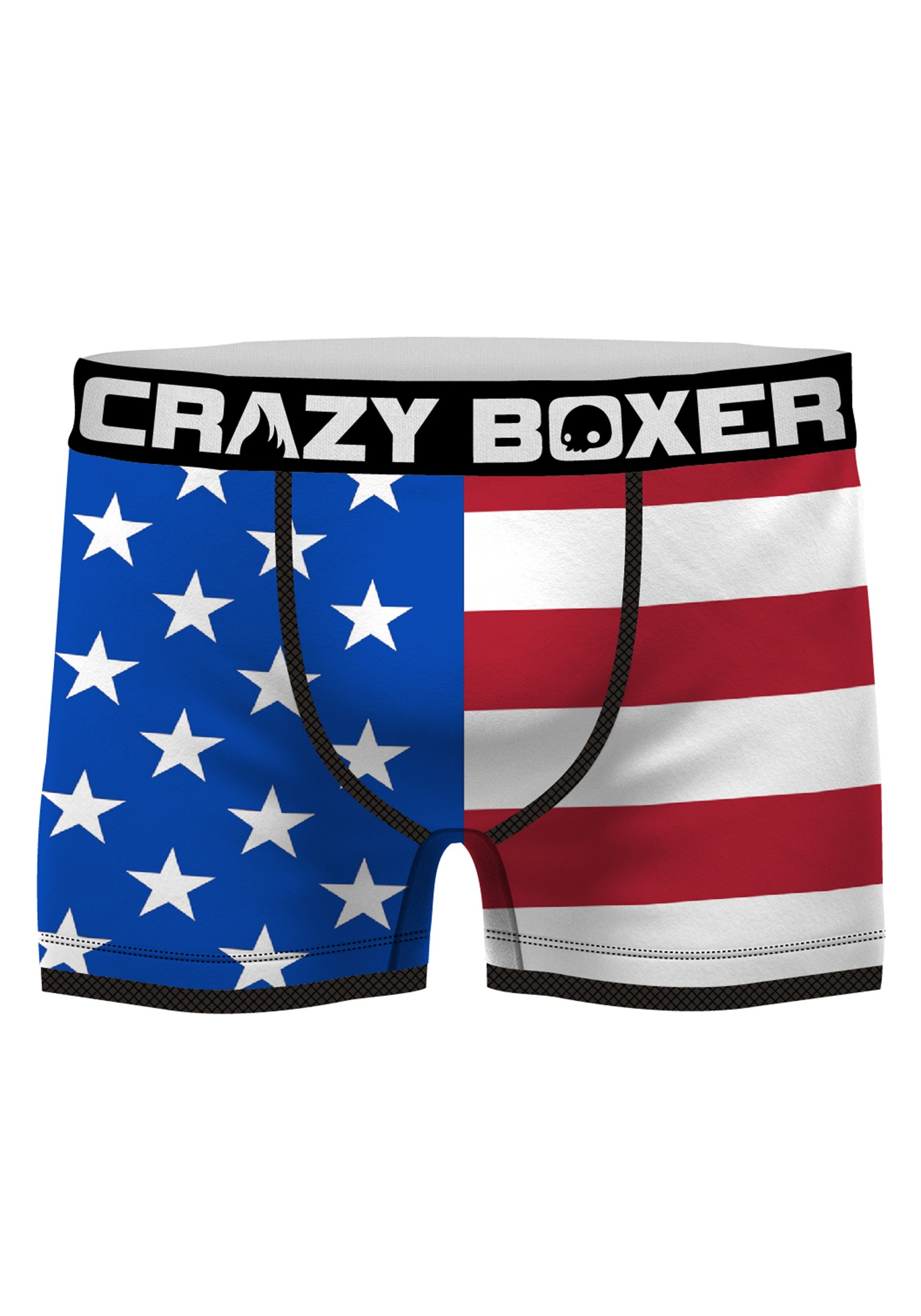 7396a9bacd Crazy Boxers Men's American Flag Boxer Briefs