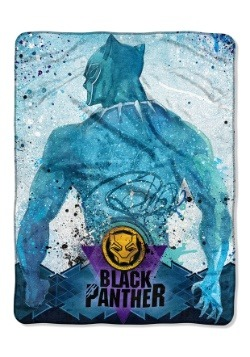 "Black Panther Icon Splat 46"" x 60"" Super Soft Throw Blanket"