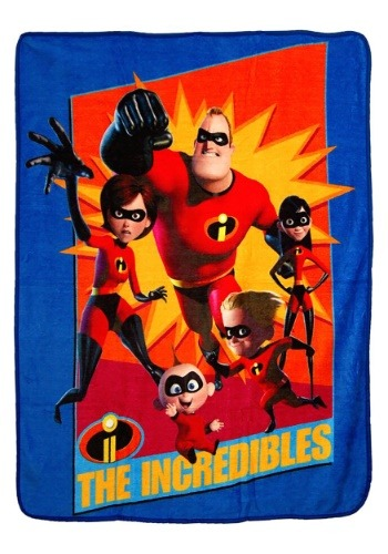 """The Incredibles Family Heroes 46"""" x 60"""" Super Soft Throw"""