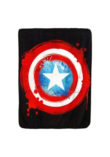 """Captain America Shield 46"""" x 60"""" Super Soft Throw"""