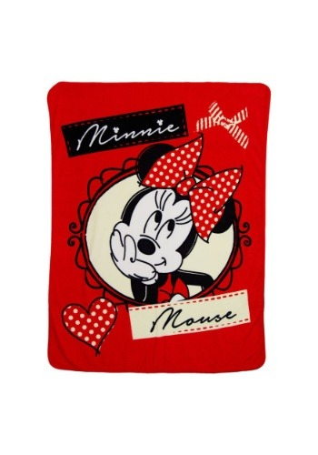 "Classic Minnie Bows 46"" x 60"" Super Soft Throw"