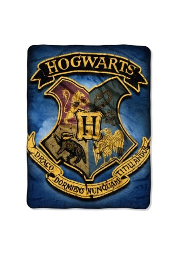 "Harry Potter Hogwarts Crest 46"" x 60"" Super Soft Throw"