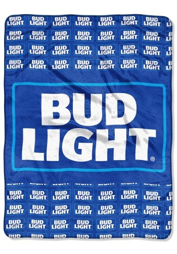 "Bud Light Patches 46"" x 60"" Super Soft Throw"