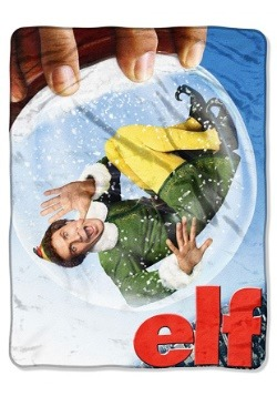 "Elf Buddy Globe 46"" x 60"" Super Soft Throw"