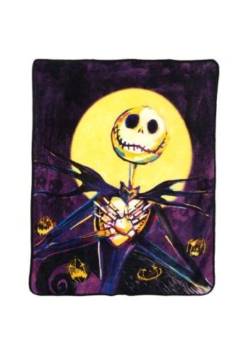 """Nightmare Before Christmas Pumpkin Delight 46"""" x 60"""" Blanket"""