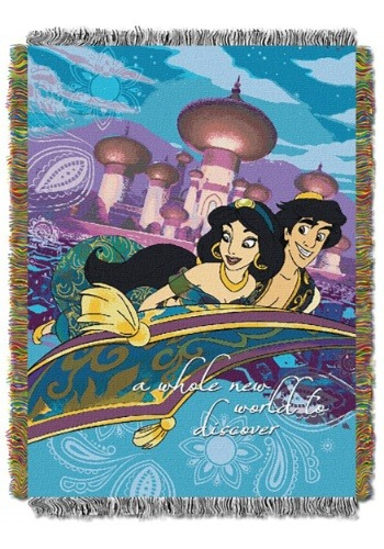 Aladdin A Whole New World Tapestry Throw