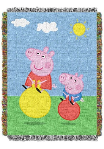 Peppa Pig Bounce Tapestry Throw