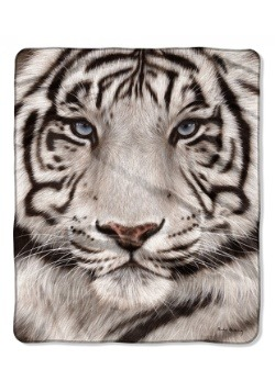 "White Tiger 50"" x 60"" Raschel Throw"