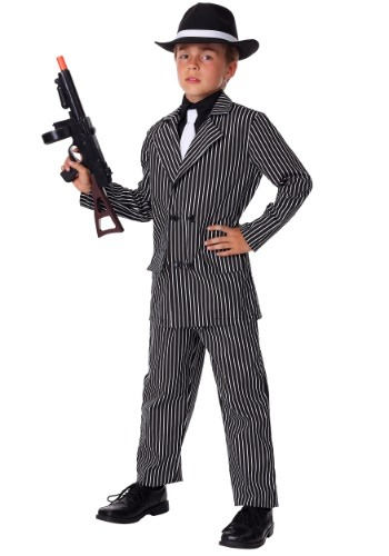 Deluxe Gangster Costume For Kids1