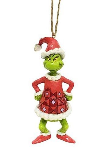 Grinch Dressed As Santa Ornament