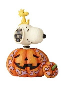 Snoopy Woodstock in Pumpkin Figurine