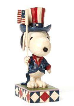 Peanuts Patriotic Snoopy Figurine1
