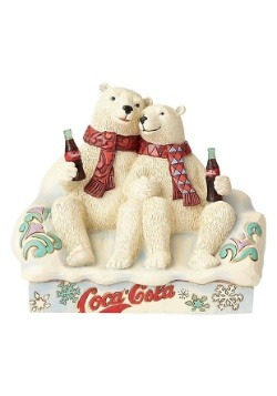 Coca-Cola Polar Bear Couple Figurine