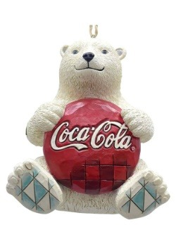 Polar Bear with Coke Hanging Ornament