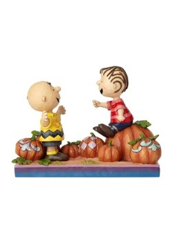 Charlie Brown & Linus Pumpkin Figurine