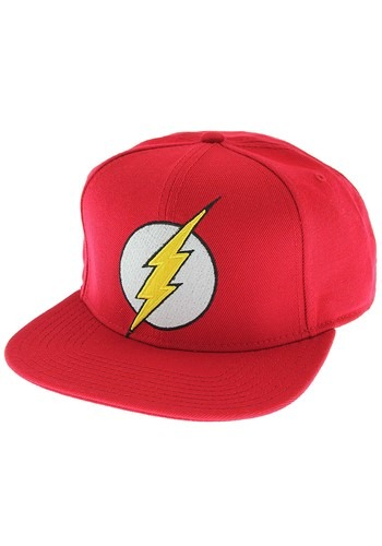 Flash Bright Red Logo Snap Back Hat