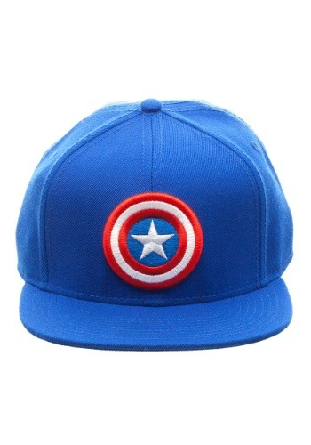 Captain America Logo Snap Back Blue Hat Update1