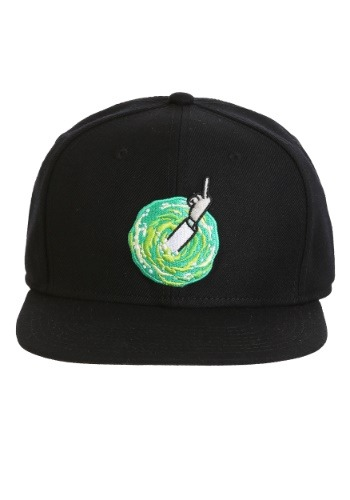 Rick and Morty- Middle Finger Rick Snap Back Hat