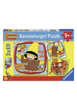 Curious George and Friends- Set of 3- 49 Piece Puzzle