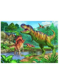 World of Dinosaurs 100 Piece Puzzle and Coloring Book