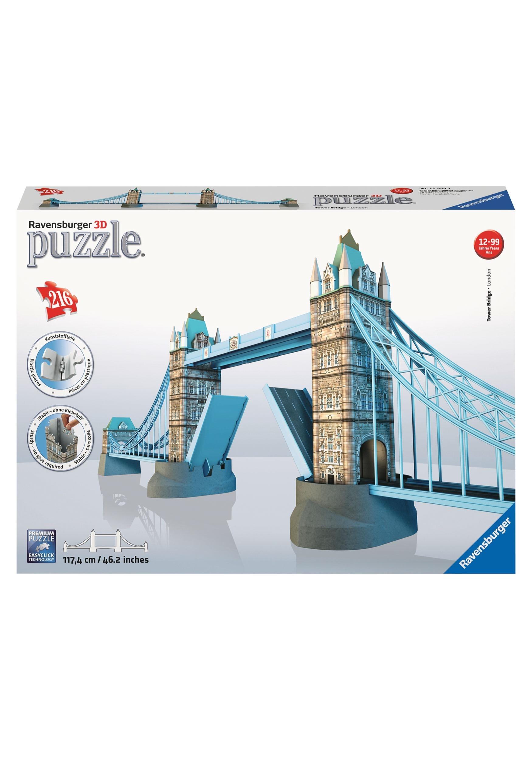 8faa23344 Tower Bridge 216 Piece Ravensburger 3D Puzzle