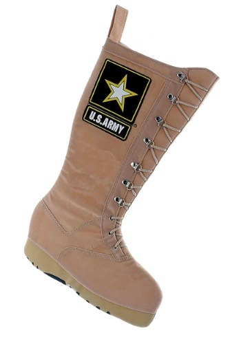 "19"" U.S. Army Combat Boot Christmas Stocking1"