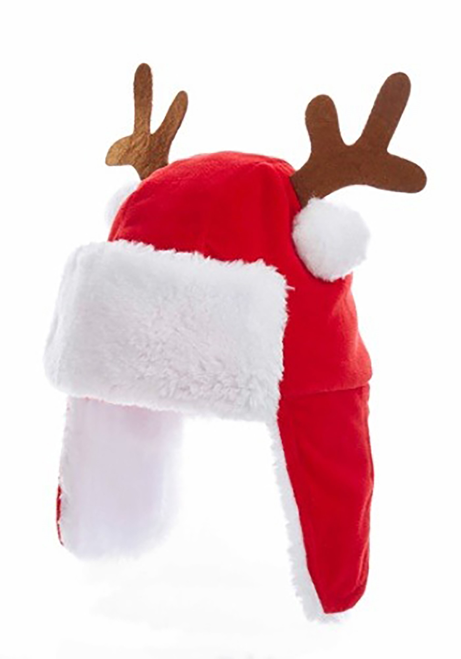 Christmas Hat.7 Red Kids Christmas Hat W Antlers