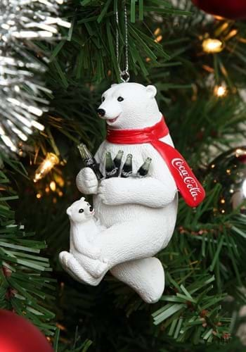 "4.25"" Coca-Cola Bear w/ Cub Molded Ornament1"