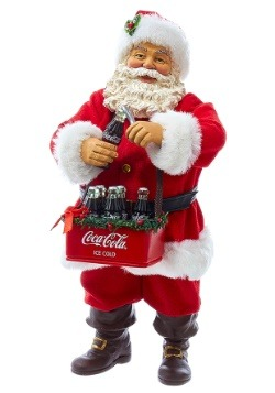 "10"" Santa Opening Coke Tablepiece Décor1"