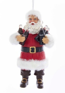 "5"" Santa Sharing Coca-Cola Molded Ornament1"