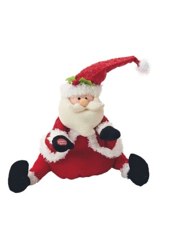 "11.5"" Singing & Dancing Santa Plush Decoration1"