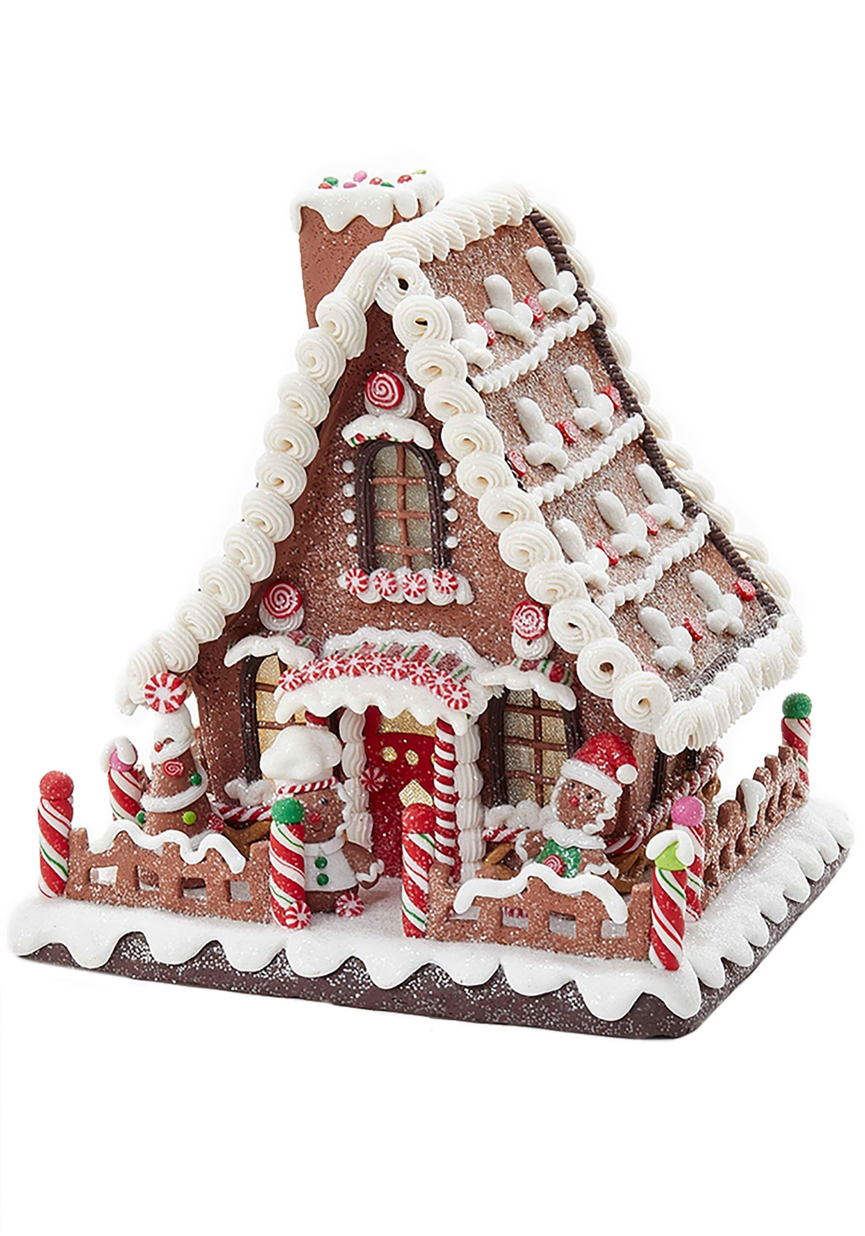 Led Light Up Claydough Gingerbread House Tablepiece