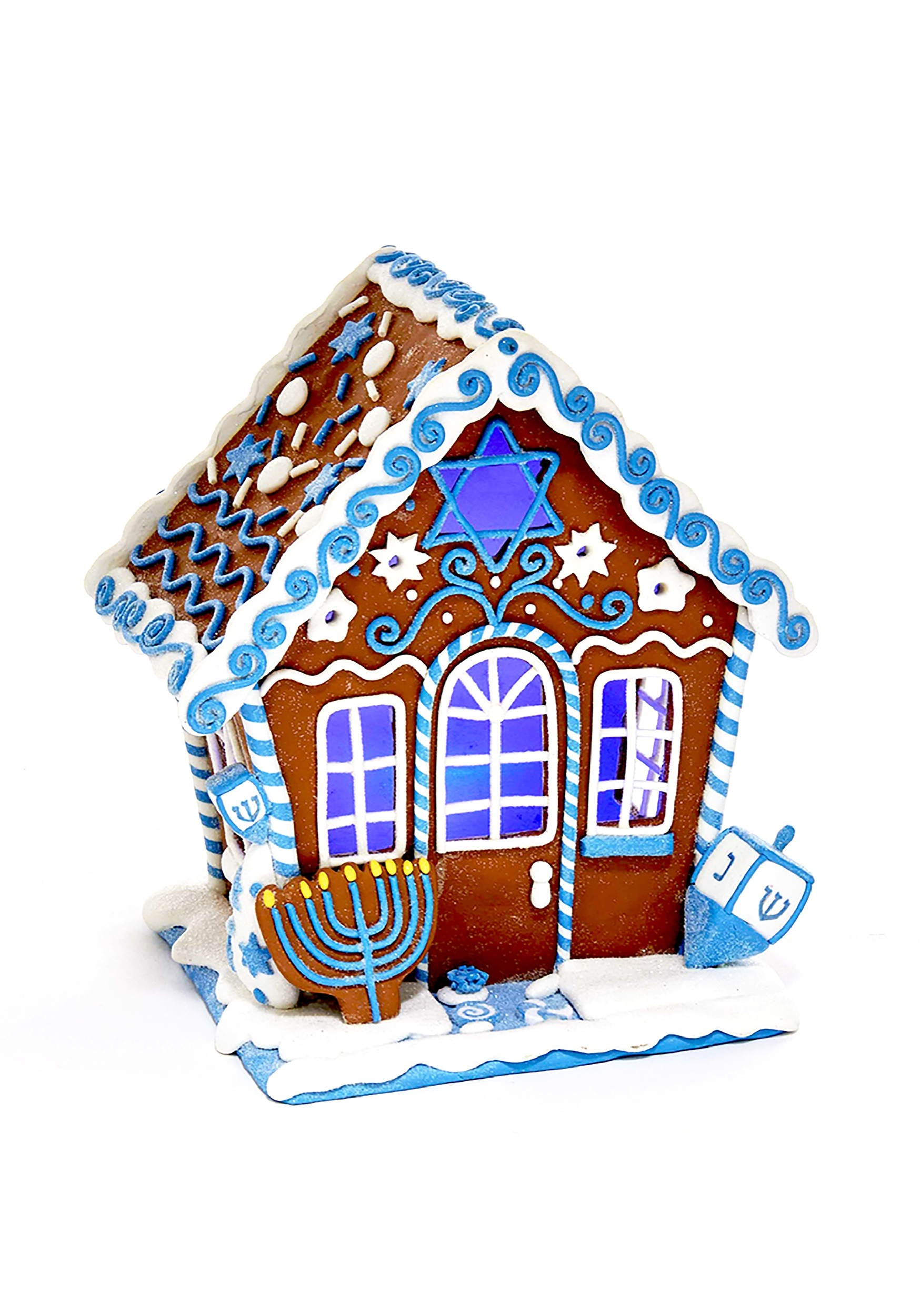 7 claydough hanukkah gingerbread led house table piece1