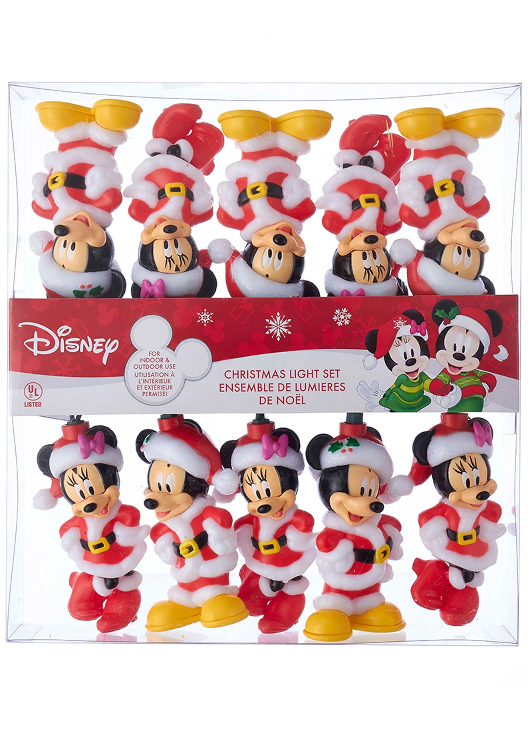10 piece mickey minnie indoor outdoor light set
