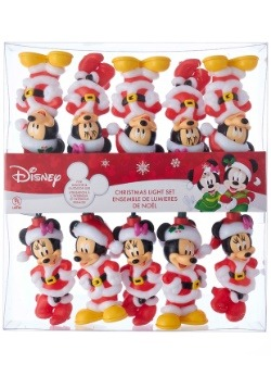 10 Piece Mickey & Minnie Indoor/Outdoor Light Set